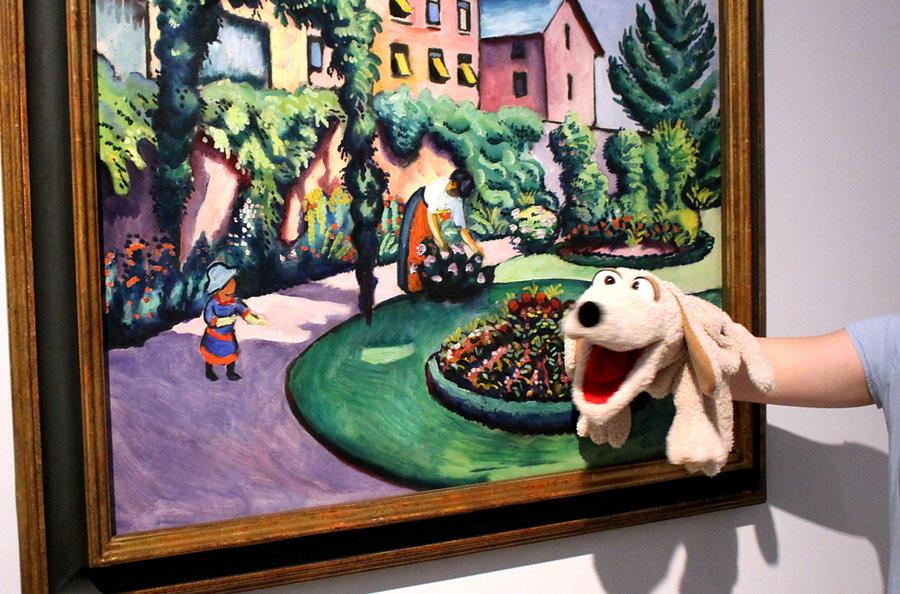 Museum: Handpuppe Wolf führt Kinder durch Macke-Ausstellung
