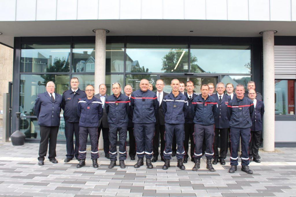 Feuerwehrleute aus Partnerstadt Le Puy waren zu Gast in Meschede