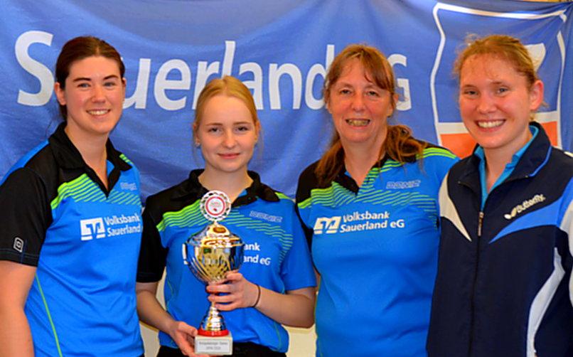 Tischtennis-Damen des SV Holzen gewinnen Kreispokal