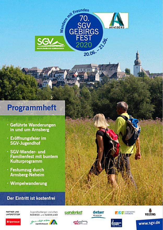 70. SGV-Gebirgsfest 2020 in Arnsberg hat viel zu bieten