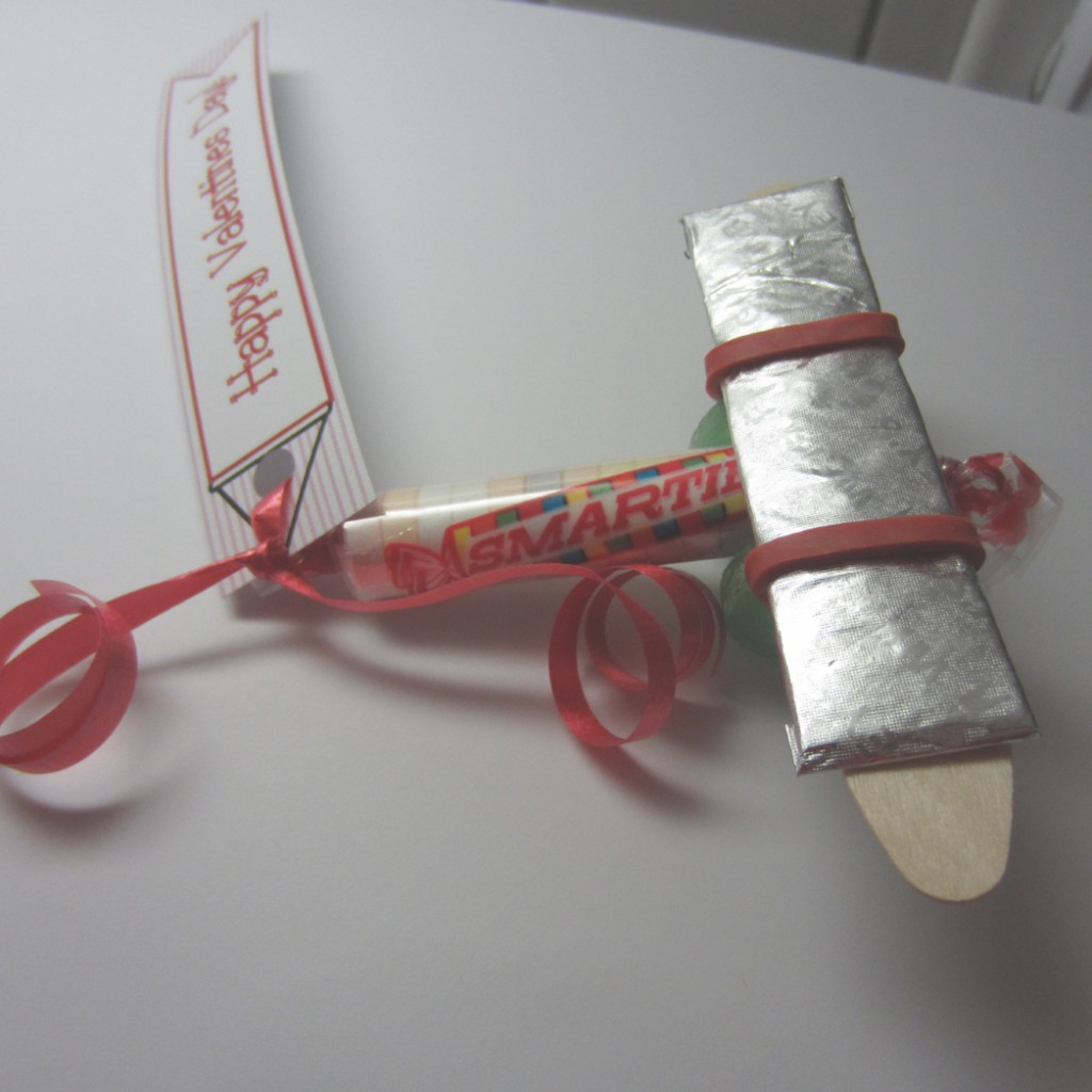 Smartie Valentine Candy Airplane