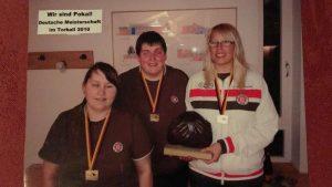 Deutscher Meister 2010 Damen - FC St. Pauli (Alex, Connie, Natascha)
