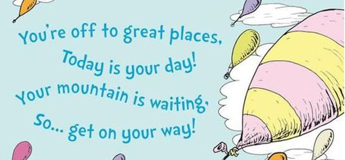 oh the places you ll go dr seuss poem
