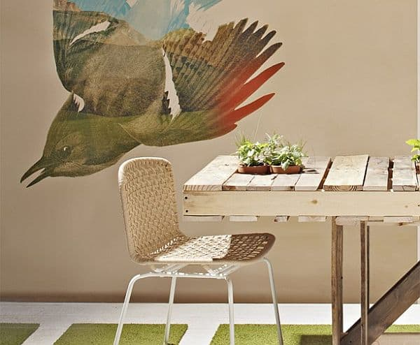 Recycled pallet dining room table