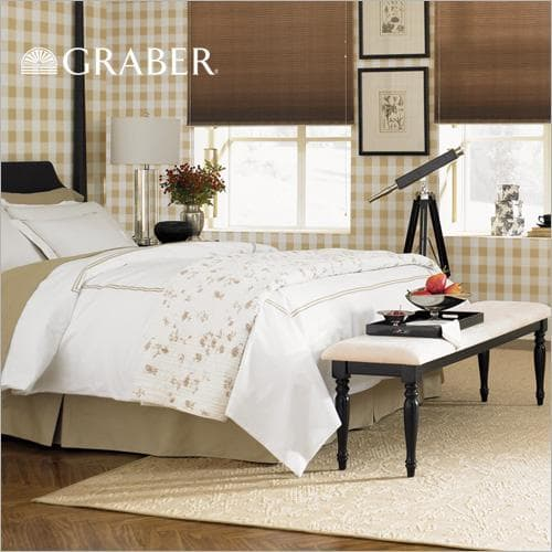 """Graber blinds crystal pleat 3/8"""" double cell light filtering"""