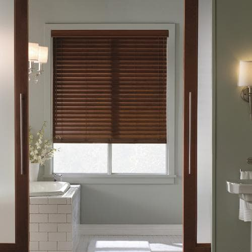 levolor visions 2 faux wood - Bathroom Window Treatments