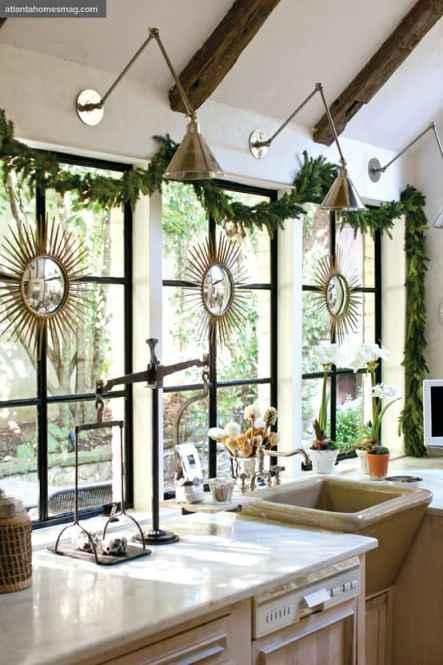 christmas decor for kitchen window