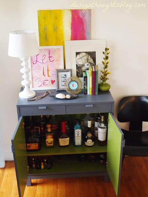 Design Thoughts Bar Cart Makeover