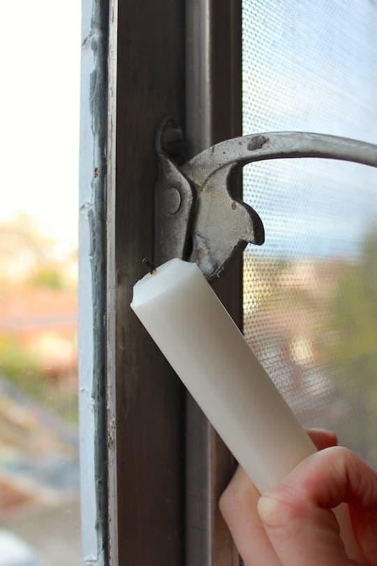 Lubricate window latch