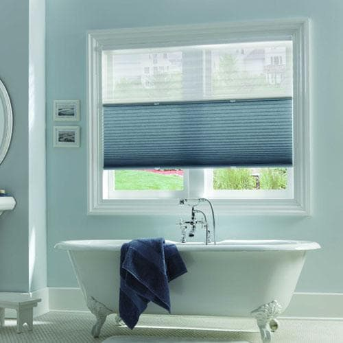 Privacy window shades for the bathroom