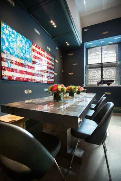 Contemporary Dining Room by New York Interior Designers & Decorators Noelia Surace Design
