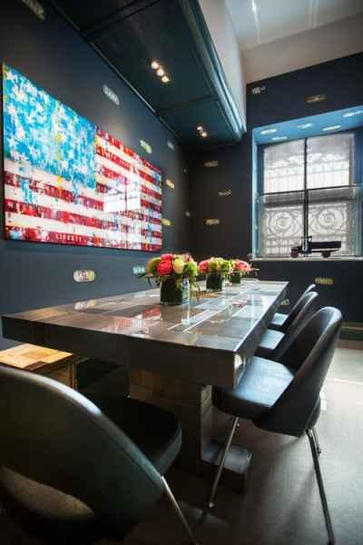 Contemporary Dining Room by New York Interior Designers & Decorators Noelia Surace Design