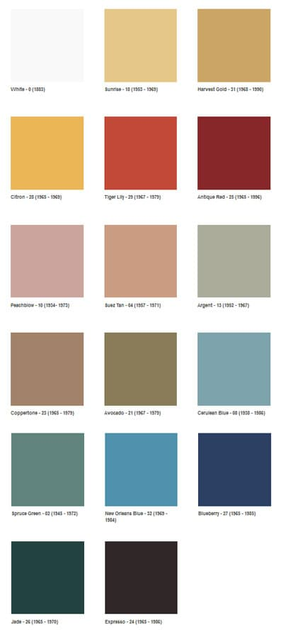 1960s decotating color palette