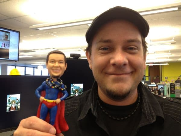 Chris + bobblehead