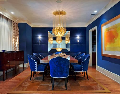royal blue dining room