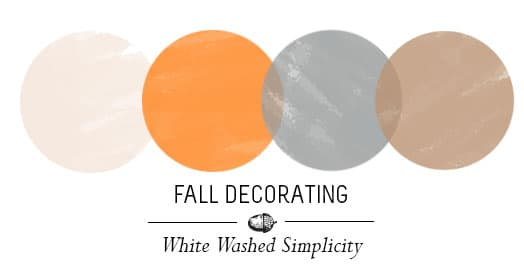 Decorating with white for fall