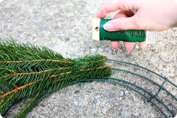 Handmade evergreen wreath