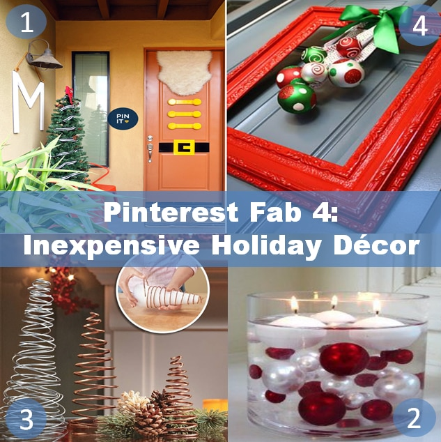At Blinds.com we are all about saving money so letu0027s get festive with these inexpensive holiday decor ideas! & Pinterest Fab 4: Inexpensive Holiday Decor - The Finishing Touch