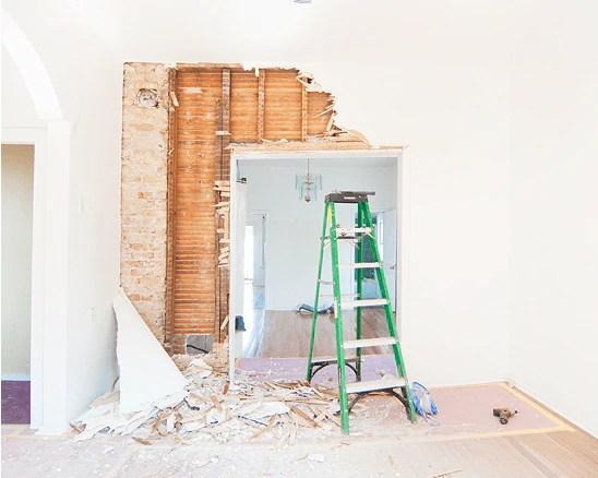 Yellow Brick Home Remodel