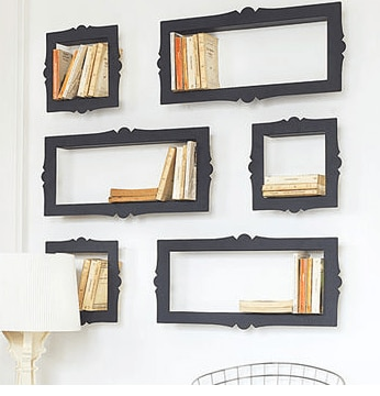 picture frame book shelf