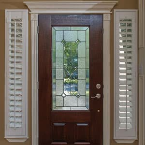 Charmant Shutters For Sidelight Windows. Shop Plantation Shutters For Front Doors
