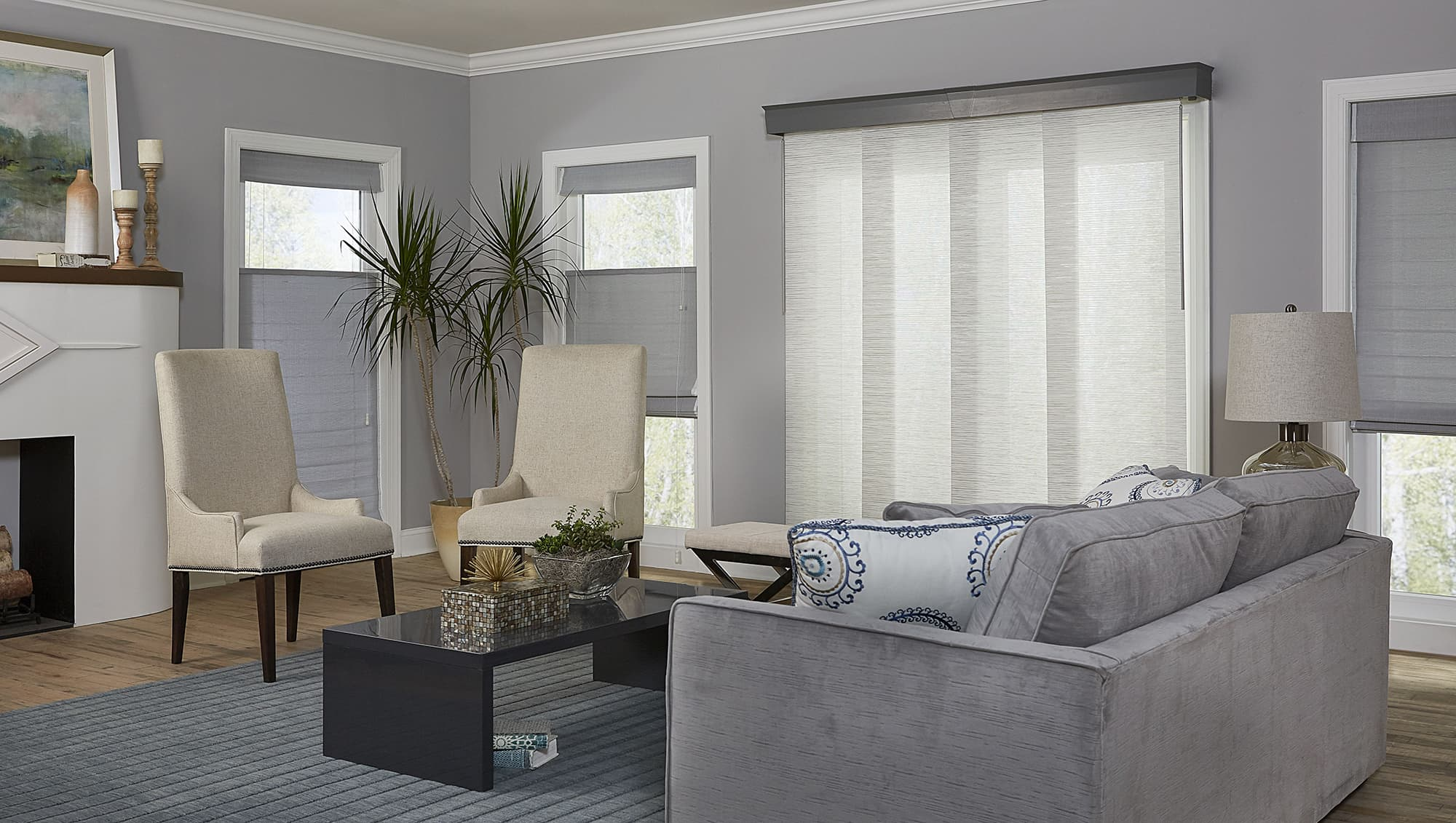 Merveilleux Sliding Panel Blinds Patio Door