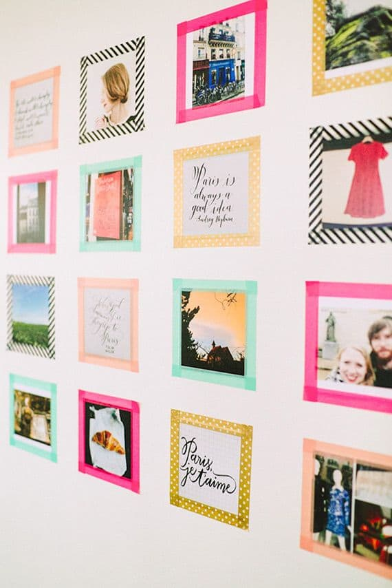 Instagram Photo Wall With Washi Tape