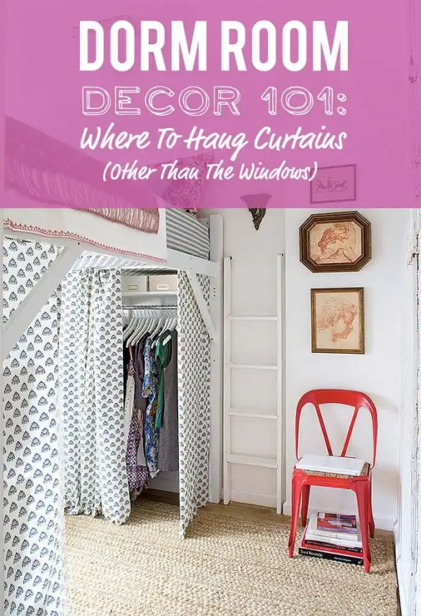 Where To Hang Curtains In The Dorm Other Than The Windows Dorm