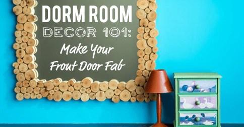 How to decorate dorm door
