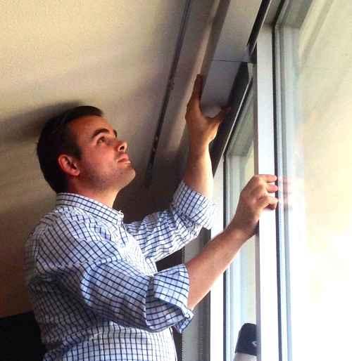 Geoff Installing Shades