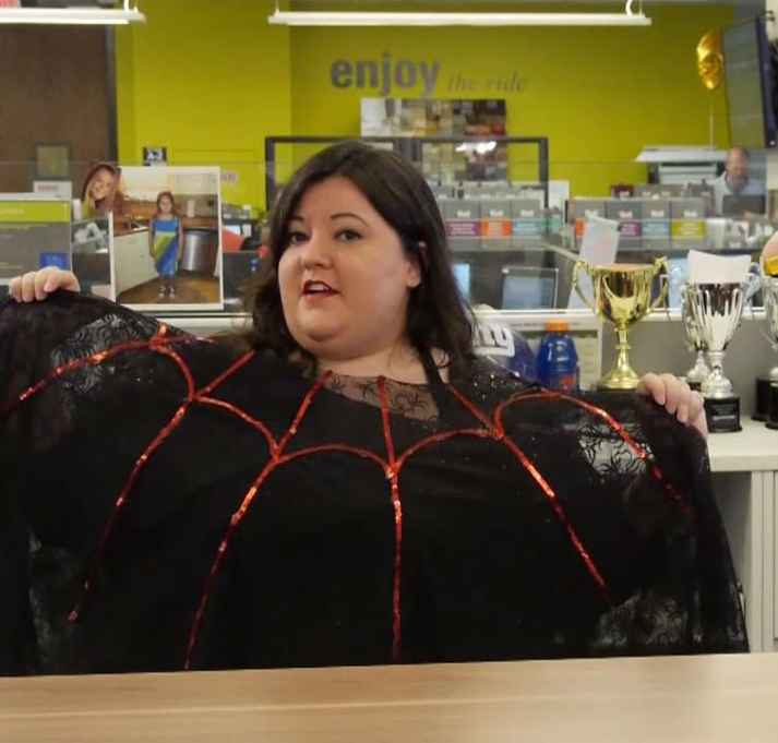 Spider Web Poncho Halloween