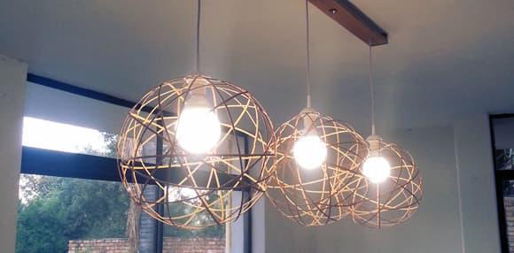 DIY Bamboo Pendant Lights