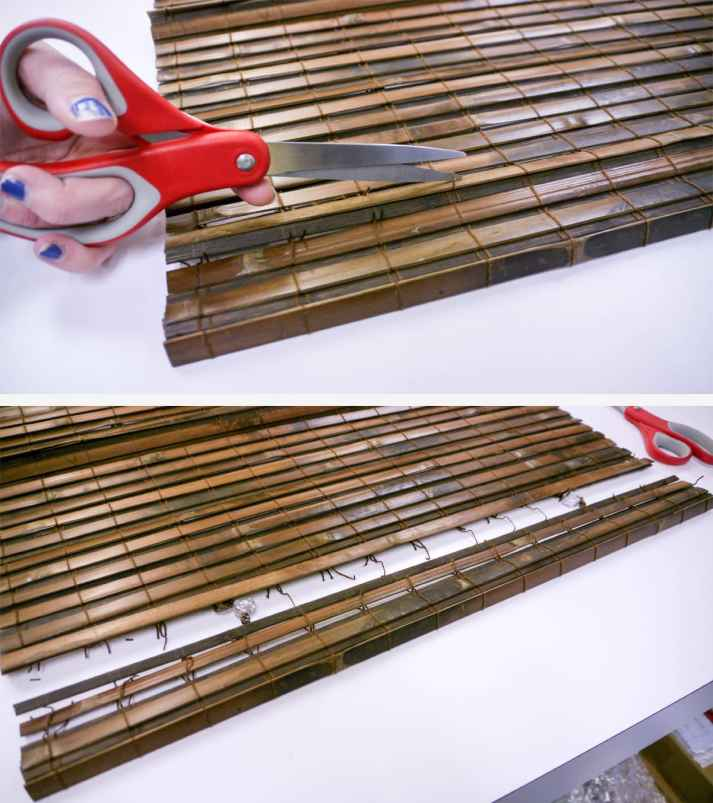 How to take apart bamboo blinds