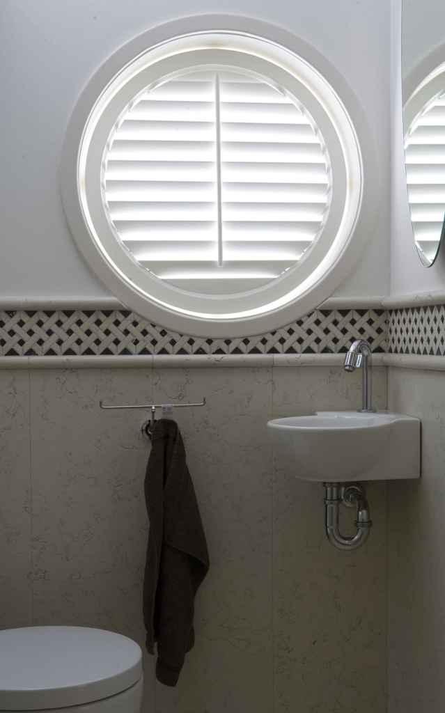 Circle window shutters