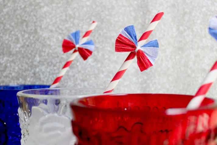 Uncle sam 4th of july straw
