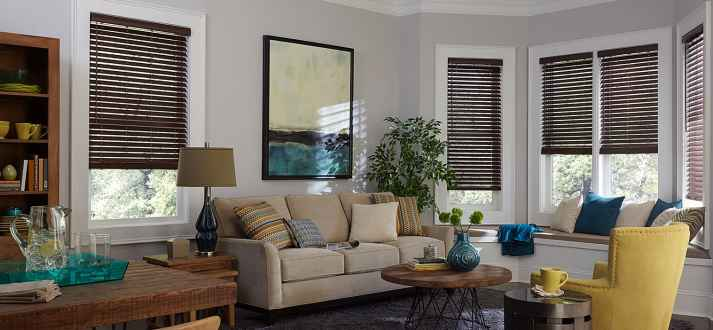 bay window blinds. Bay Windows Can Be Beautiful. Challenging. Lovely. Difficult. Window Blinds