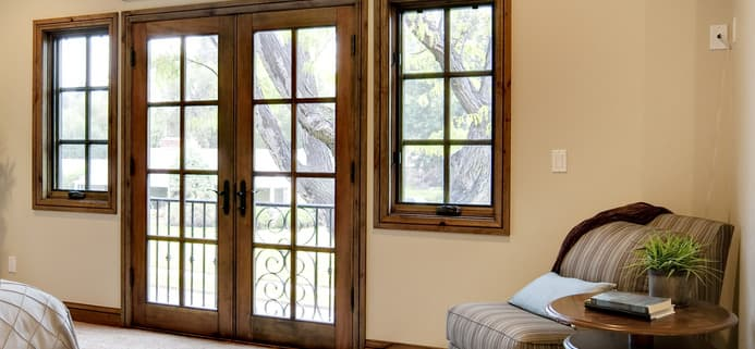 What Is The Best Window Treatment For French Doors? Abigail Sawyer Are Roman  Shades ...