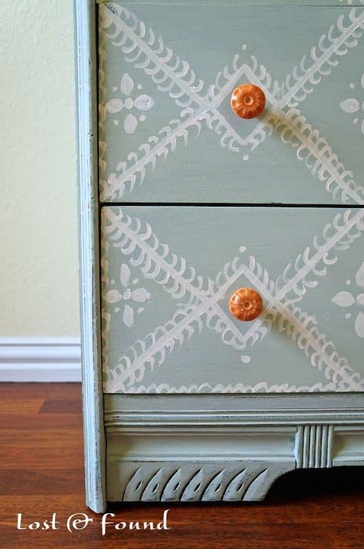 orange drawer pulls