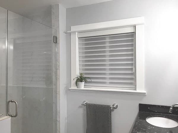perfect bathroom privacy with radiance sheer shades