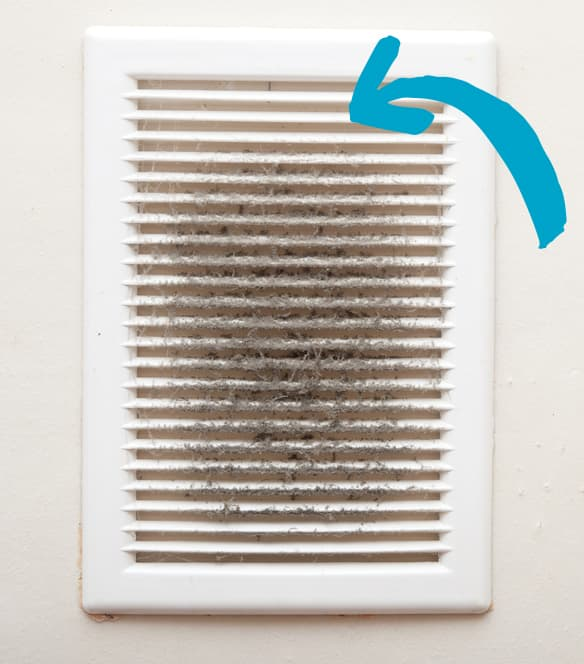 how to clean vents