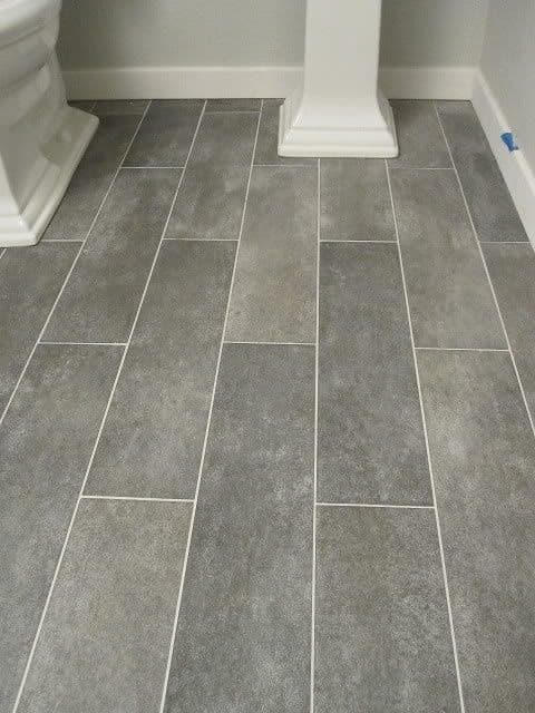grey tile bathroom slate