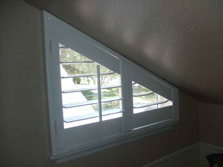Angle Top Angle Bottom And Triangle Window Treatments