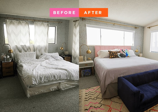oh Joy bedroom makeover before and after