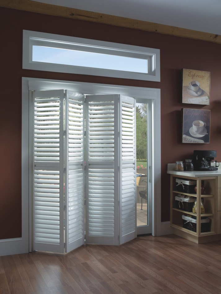 bifold plantation shutters for sliding glass door