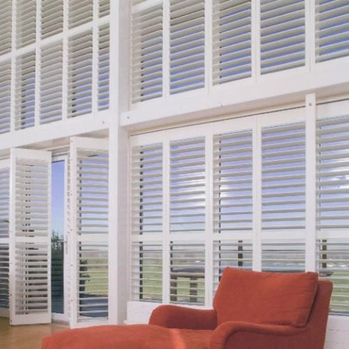 window shutters for interior patio door covering