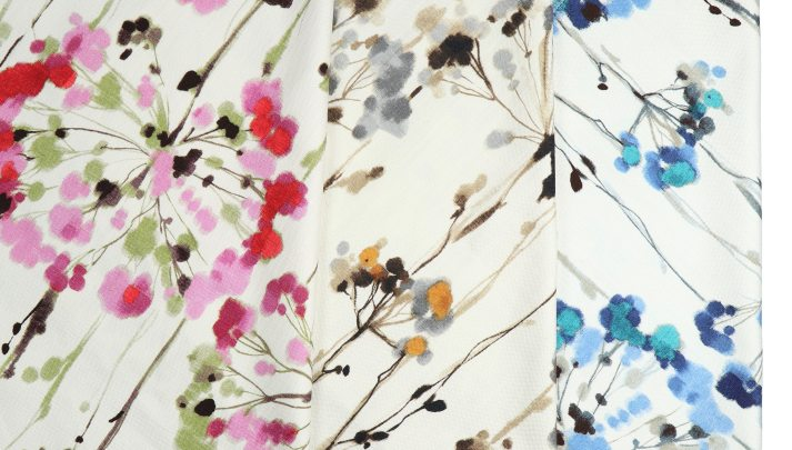 watercolor floral prints for Blinds.com roman shades