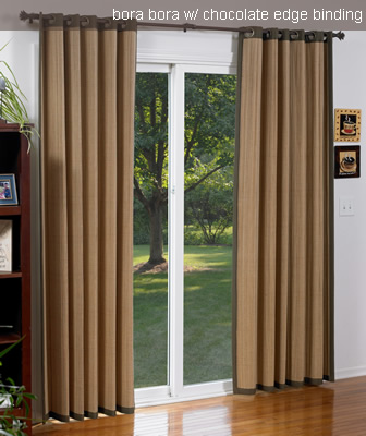 Bamboo Draperies Drapes For Patio Doors Blinds Chalet