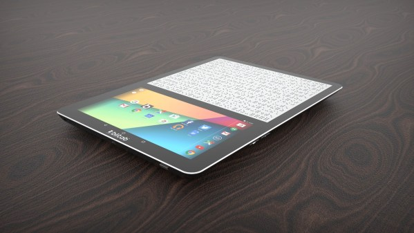 A product photo of the new BLITAB Braille tablet.