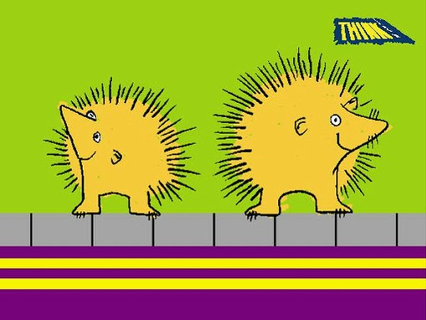 The Green Cross Code Hedgehogs.