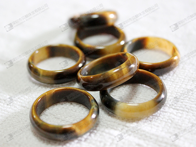 ring or in circle yellow rings tiger eye s men gold mens